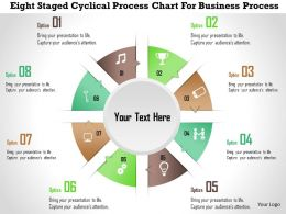 0115 Eight Staged Cyclical Process Chart For Business Process PowerPoint Template