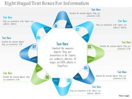 0115 Eight Staged Text Boxes For Information Powerpoint Template