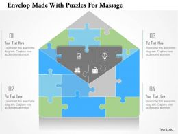 0115 Envelope Made With Puzzles For Message Powerpoint Template