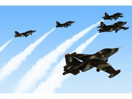 0115_five_jet_planes_in_sky_stock_photo_Slide01