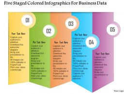 0115 Five Staged Colored Infographics For Business Data Powerpoint Template