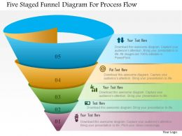 0115 Five Staged Funnel Diagram For Process Flow Powerpoint Template