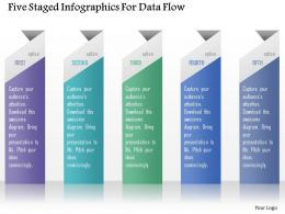 0115 Five Staged Infographics For Data Flow Powerpoint Template
