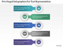 0115 Five Staged Infographics For Text Representation Powerpoint Template