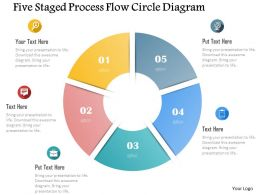 0115 Five Staged Process Flow Circle Diagram Powerpoint Template