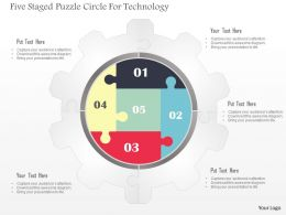 0115_five_staged_puzzle_circle_for_technology_powerpoint_template_Slide01