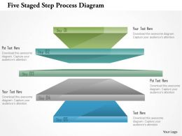 0115 Five Staged Step Process Diagram Powerpoint Template