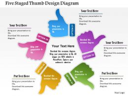 0115_five_staged_thumb_design_diagram_powerpoint_template_Slide01