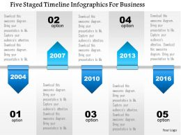 0115 Five Staged Timeline Infographics For Business Powerpoint Template