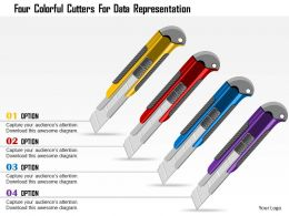 0115 Four Colorful Cutters For Data Representation PowerPoint Template