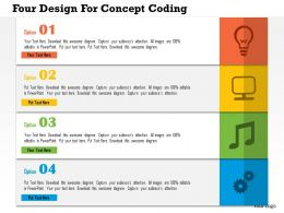 0115 Four Design For Concept Coding Powerpoint Template