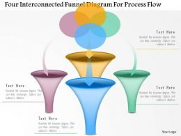 0115 Four Interconnected Funnel Diagram For Process Flow Powerpoint Template