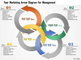 0115 Four Marketing Arrow Diagram For Management Powerpoint Template