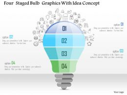0115 Four Staged Bulb Graphics With Idea Concept Powerpoint Template