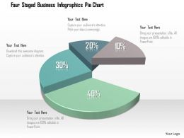 0115 Four Staged Business Infographics Pie Chart Powerpoint Template