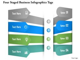 0115 Four Staged Business Infographics Tags Powerpoint Template