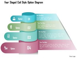 0115 Four Staged Coil Style Option Diagram Powerpoint Template