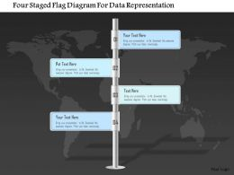 0115_four_staged_flag_diagram_for_data_representation_powerpoint_template_Slide01