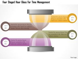 0115 Four Staged Hour Glass For Time Management Powerpoint Template