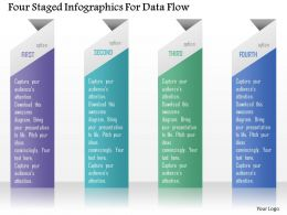 0115 Four Staged Infographics For Data Flow Powerpoint Template