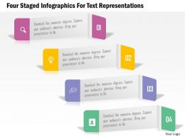 0115 Four Staged Infographics For Text Representations Powerpoint Template