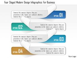 0115 Four Staged Modern Design Infographics For Business Powerpoint Template