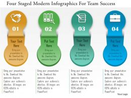 0115 Four Staged Modern Infographics For Team Success Powerpoint Template