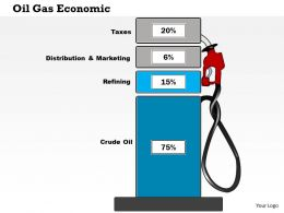 0115 Four Staged Percentage Value Oil Gas Business Framework Diagram Presentation Template