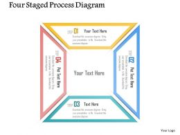 0115 Four Staged Process Diagram Powerpoint Template
