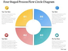 0115 Four Staged Process Flow Circle Diagram Powerpoint Template