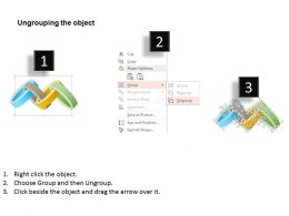 0115 Four Staged Process Flow For Strategy And Success Powerpoint Template
