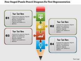 0115_four_staged_puzzle_pencil_diagram_for_text_representation_powerpoint_template_Slide01