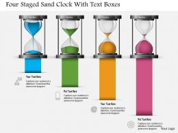 0115 Four Staged Sand Clock With Text Boxes Powerpoint Template