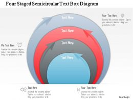 0115 Four Staged Semicircular Text Box Diagram Powerpoint Template