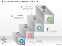 0115 Four Staged Stair Diagram With Icons Powerpoint Template
