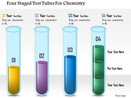 0115 Four Staged Test Tubes For Chemistry Powerpoint Template