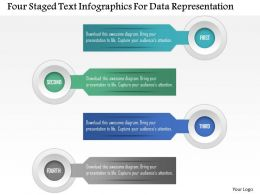 0115 Four Staged Text Infographics For Data Representation Powerpoint Template