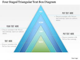 0115 Four Staged Triangular Text Box Diagram Powerpoint Template