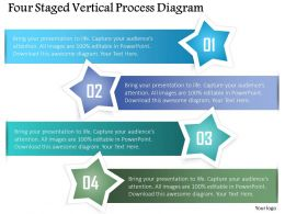 0115 Four Staged Vertical Process Diagram Powerpoint Template