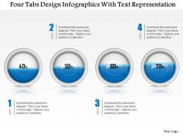 0115 Four Tabs Design Infographics With Text Representation Powerpoint Template