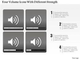0115 Four Volume Icons With Different Strength Powerpoint Template