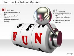 0115 Fun Text On Jackpot Machine Image Graphics For Powerpoint
