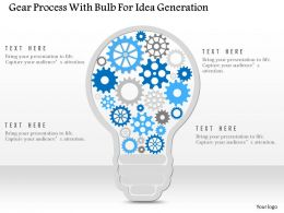 0115 Gear Process With Bulb For Idea Generation Powerpoint Template