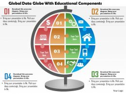 0115 Global Data Globe With Educational Components PowerPoint Template