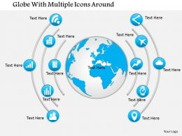 0115 Globe With Multiple Icons Around Powerpoint Template