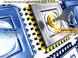 0115 Glossy Circuit Graphic With Lock Image Graphics For Powerpoint