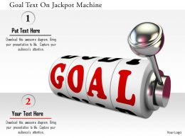 0115 Goal Text On Jackpot Machine Image Graphics For Powerpoint