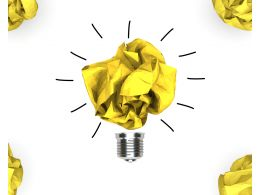 0115 Golden Idea Bulb For Idea Generation Stock Photo