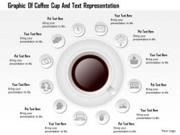 0115 Graphic Of Coffee Cup And Text Representation Powerpoint Template