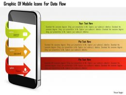 0115 Graphic Of Mobile Icons For Data Flow Powerpoint Template
